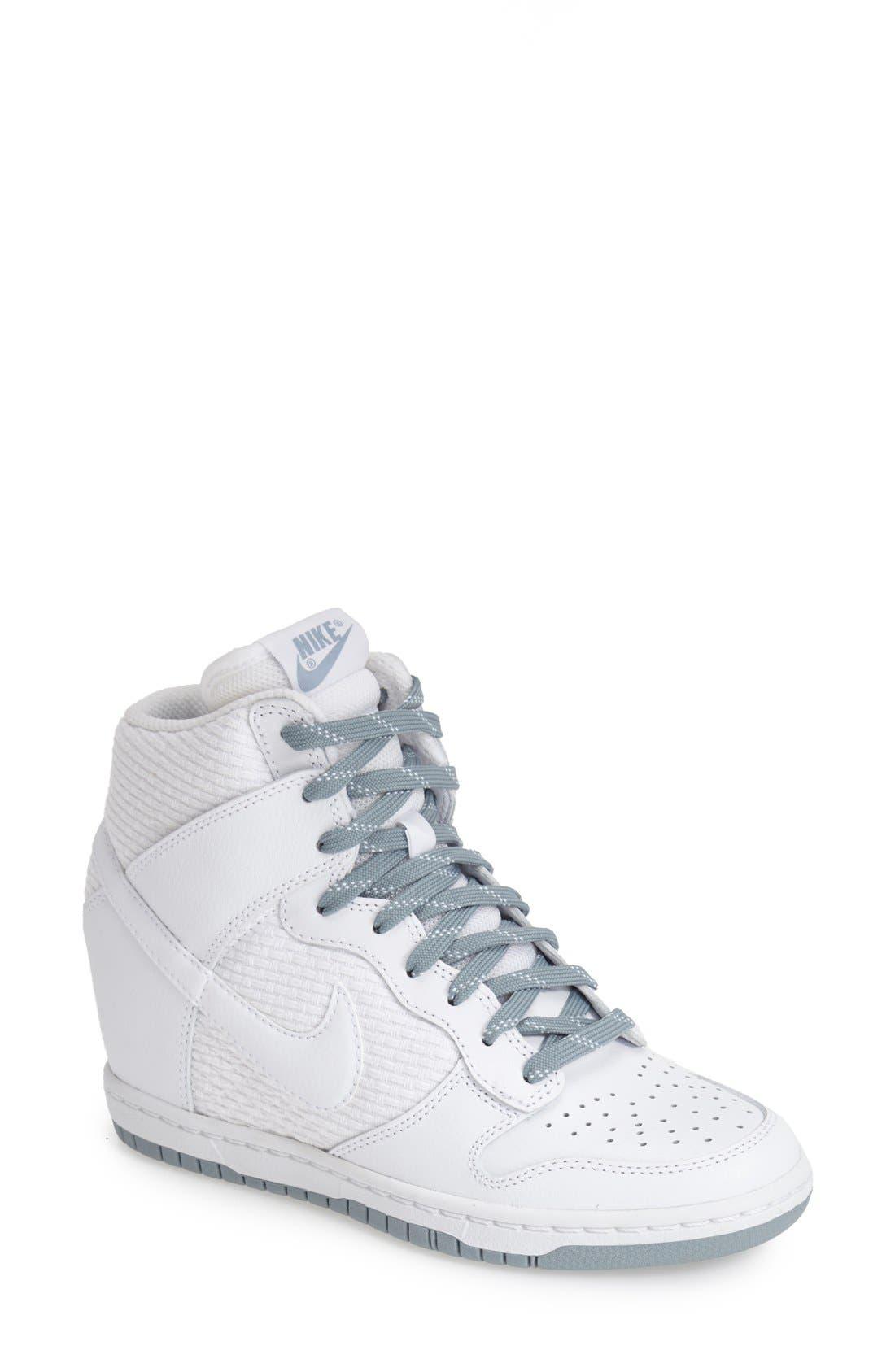 ,                             'Dunk Sky Hi - Essential' Wedge Sneaker,                             Main thumbnail 41, color,                             102