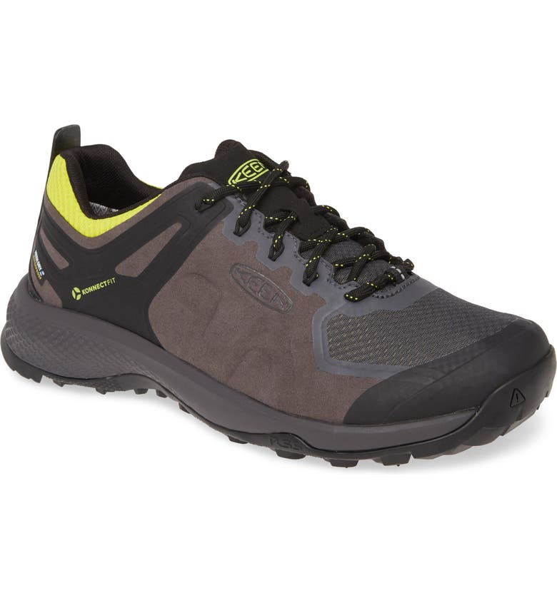 KEEN Explore Waterproof Trail Shoe, Main, color, MAGNET/ BRIGHT YELLOW