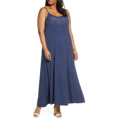 Plus Size Loveapella Maxi Slipdress, Blue