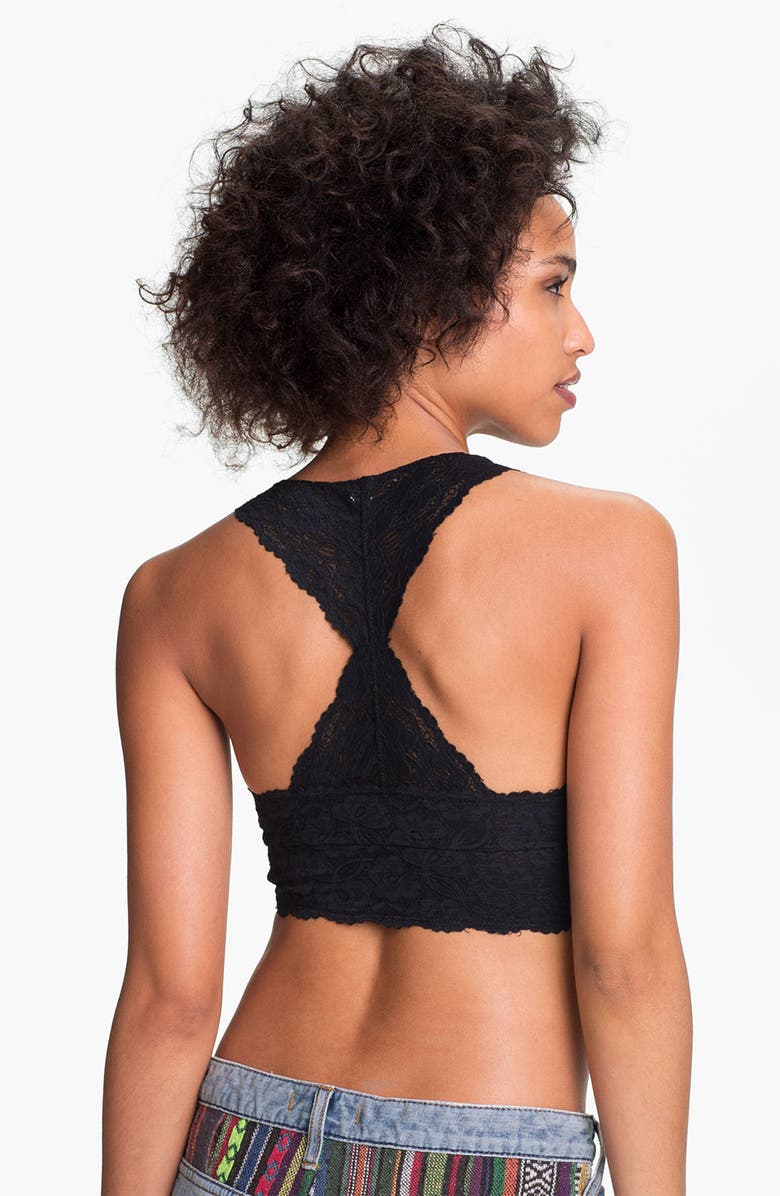 FREE PEOPLE Racerback Galloon Lace Bralette, Main, color, 001