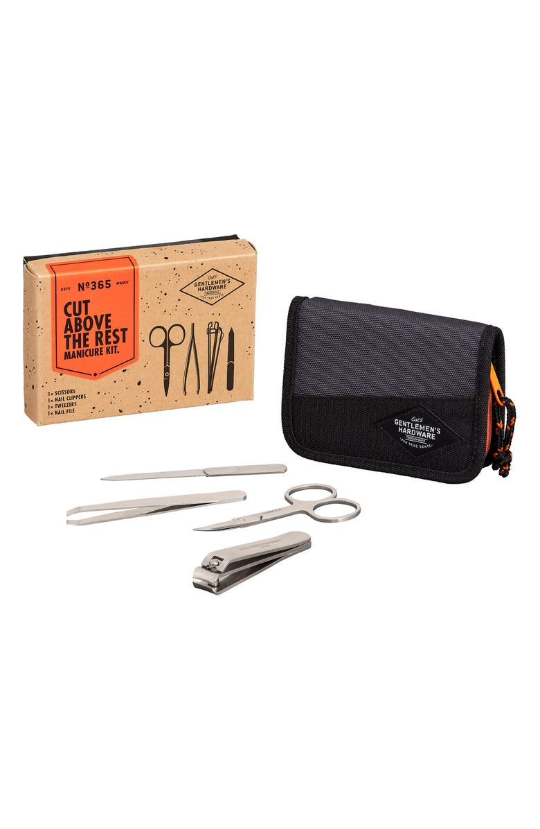 WILD & WOLF Gentleman's Hardwear Cut Above the Rest Manicure Set, Main, color, 000