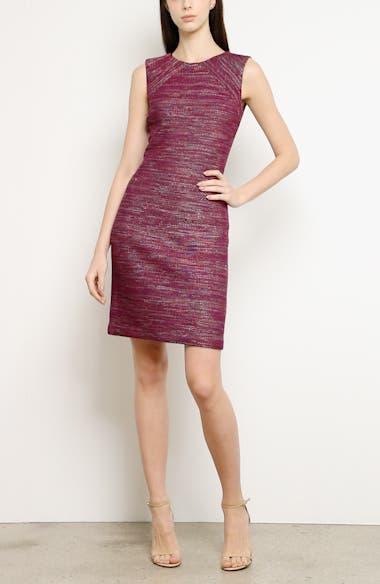 Ombré Ribbon Tweed Knit Dress, video thumbnail