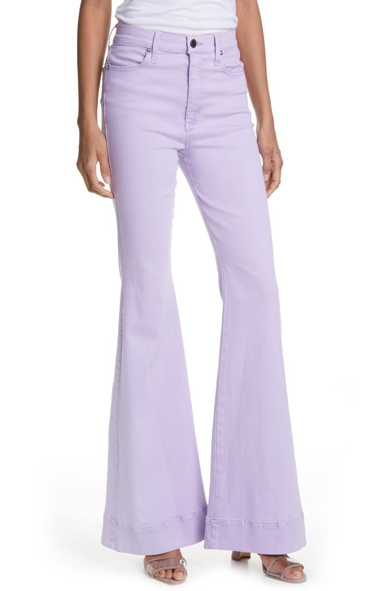 ALICE + OLIVIA JEANS Beautiful High Waist Palazzo Jeans, Main, color, ORCHID
