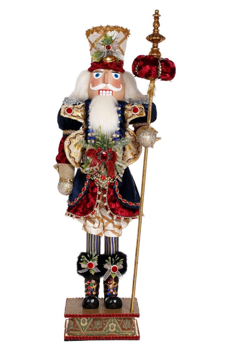 MARK ROBERTS Royal Nutcracker Figurine, Main, color, RED MULTI