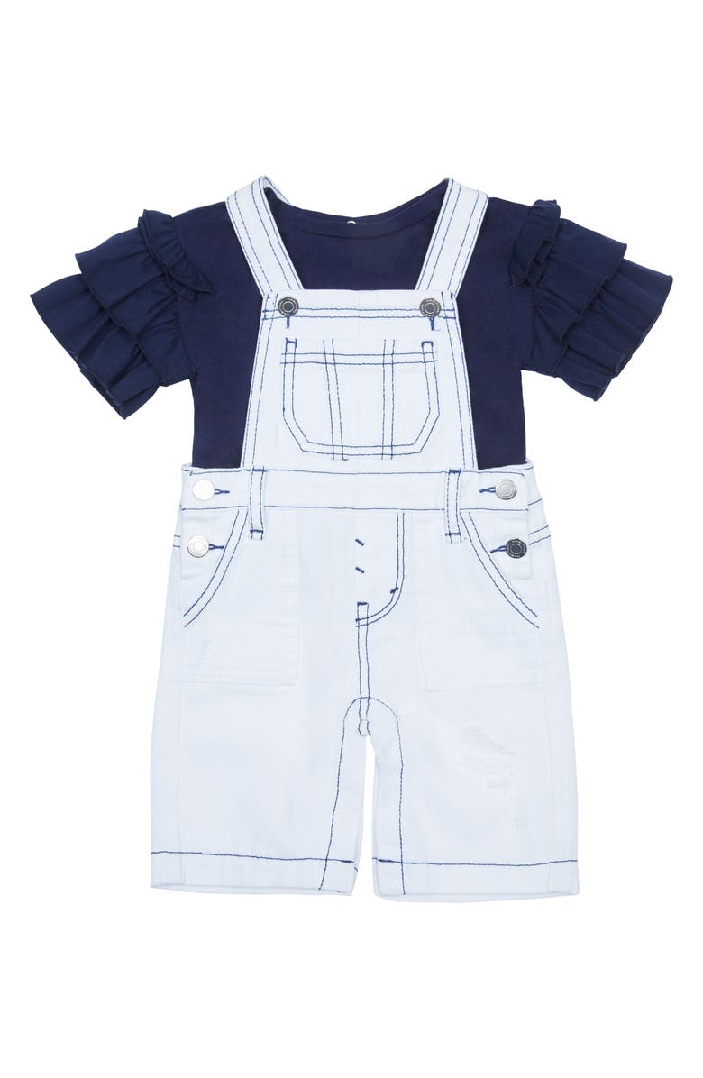 HABITUAL Overalls & T-Shirt Set, Main, color, 410