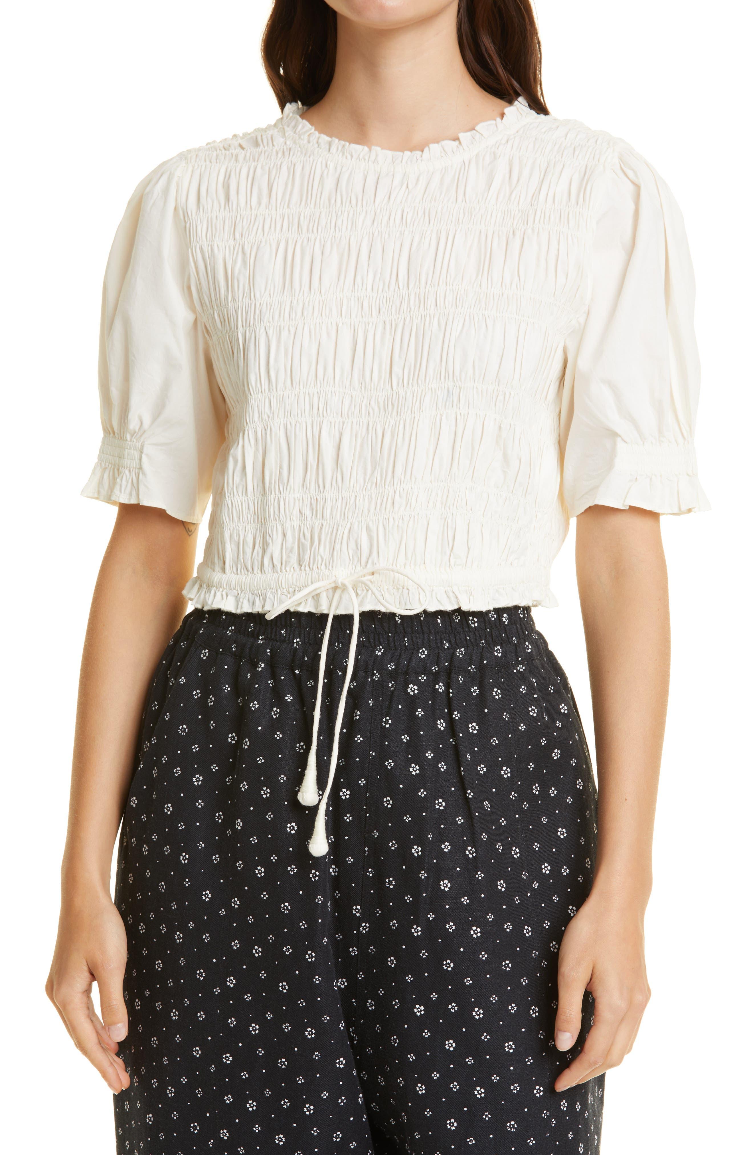 Women's Ave Smocked Organic Cotton Top