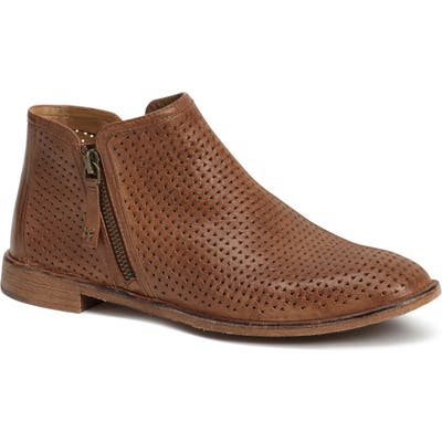 Trask Addison Low Perforated Bootie- Brown