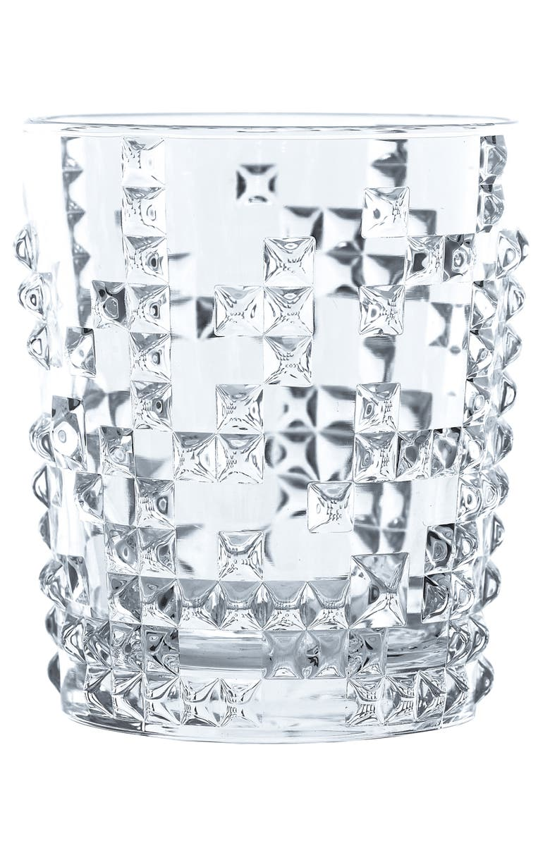 NACHTMANN Set of 4 Punk Crystal Whiskey Tumblers, Main, color, CLEAR