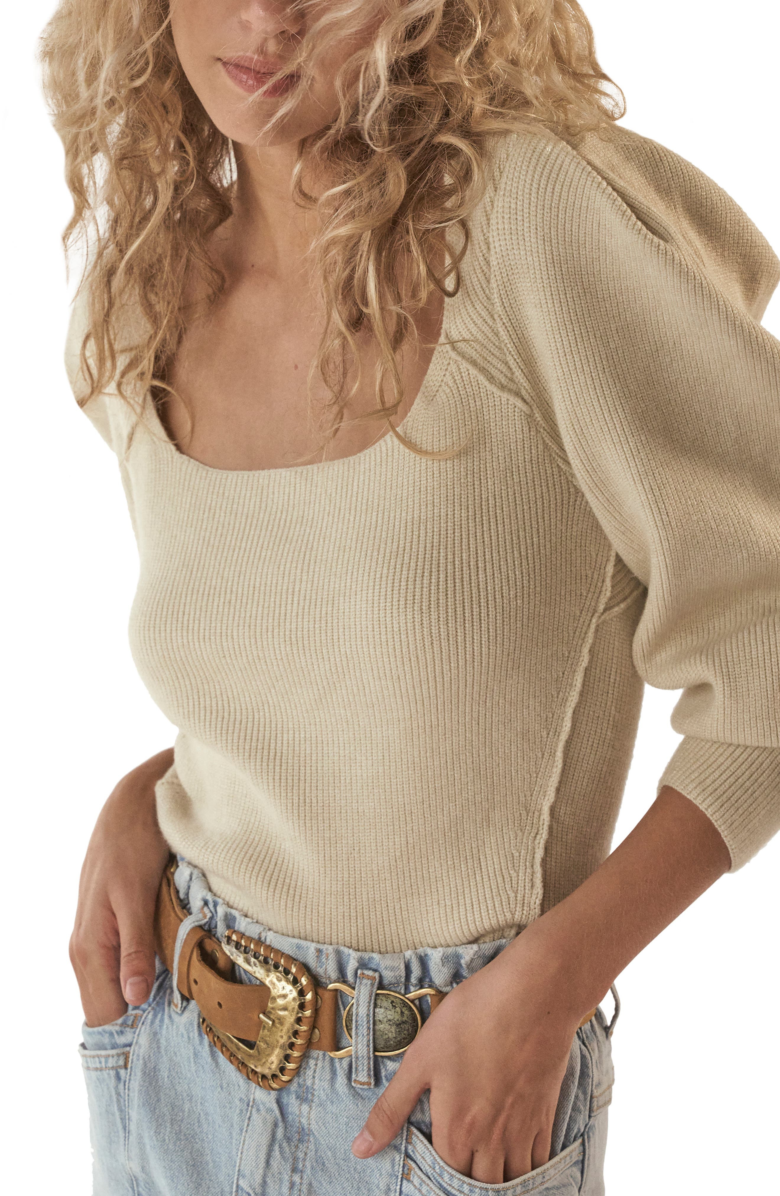 Image of Free People Saffron Open Back Sweater