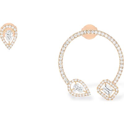 Messika My Twin Creole Mono Mismatched Diamond Earrings