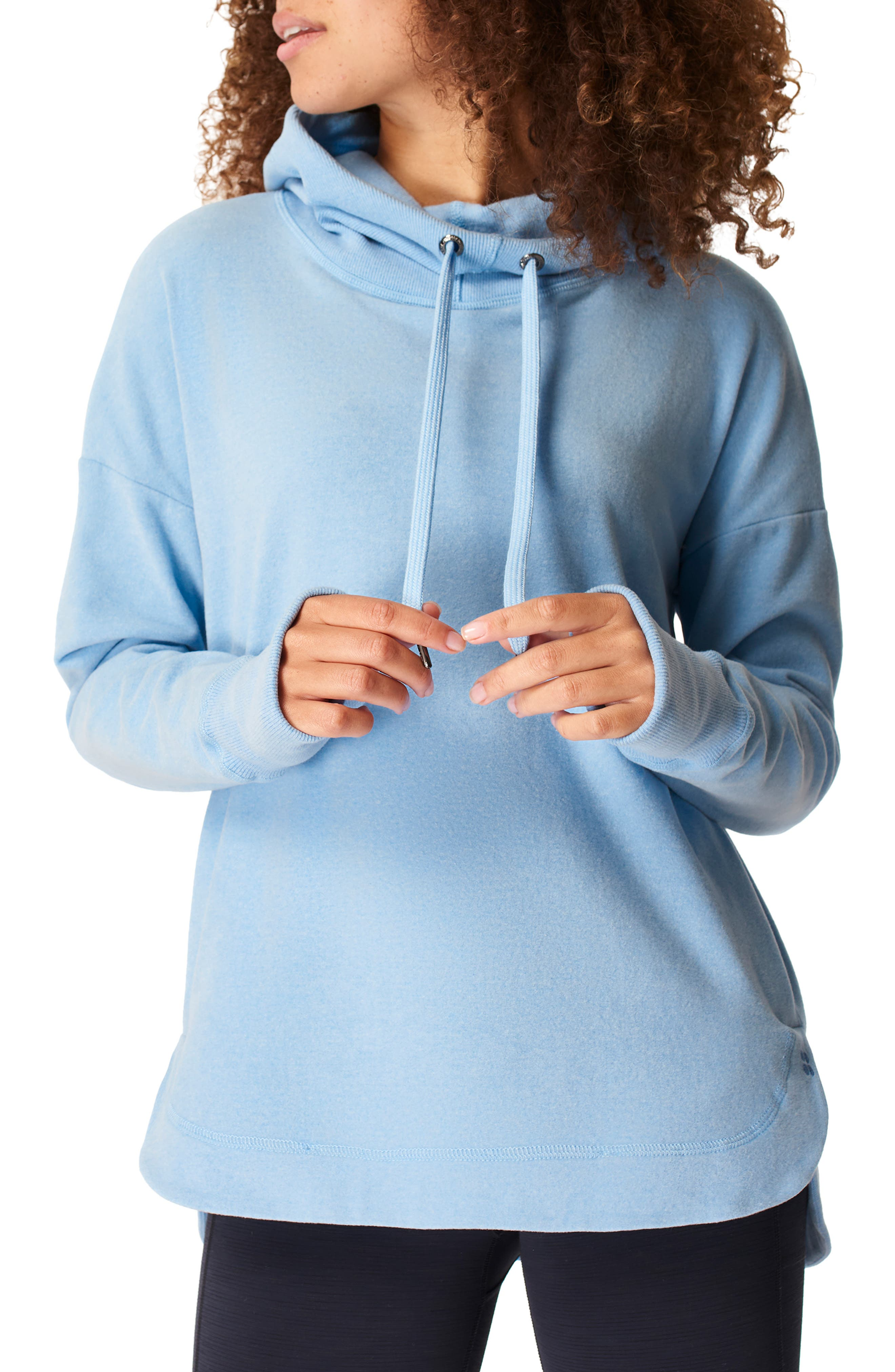 A curved hem and loose-fitting profile gives this luxe fleece hoodie a look perfect for your post-workout lounging hours. Style Name: Sweatty Betty Escape Fleece Hoodie. Style Number: 6092084. Available in stores.