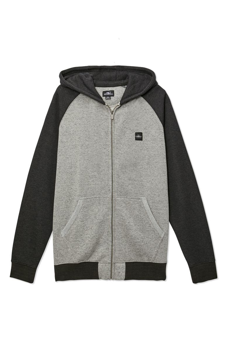 O'NEILL The Standard Two-Tone Zip Hoodie, Main, color, GRAVEL