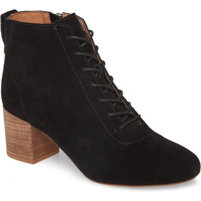 Madewell The Emilia Lace-Up Bootie, Black