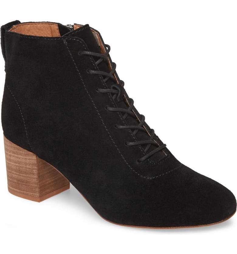 MADEWELL The Emilia Lace-Up Bootie, Main, color, 001