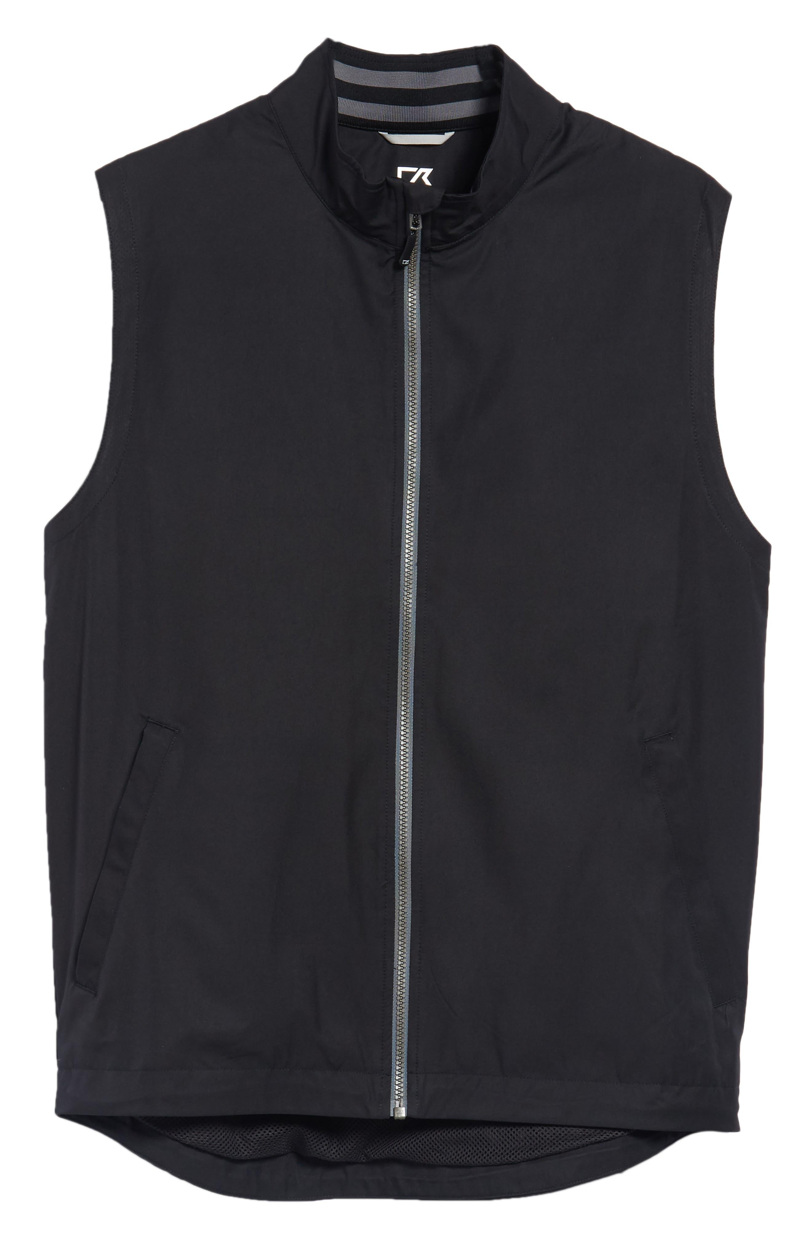 ,                             Nine Iron DryTec Zip Vest,                             Alternate thumbnail 6, color,                             BLACK