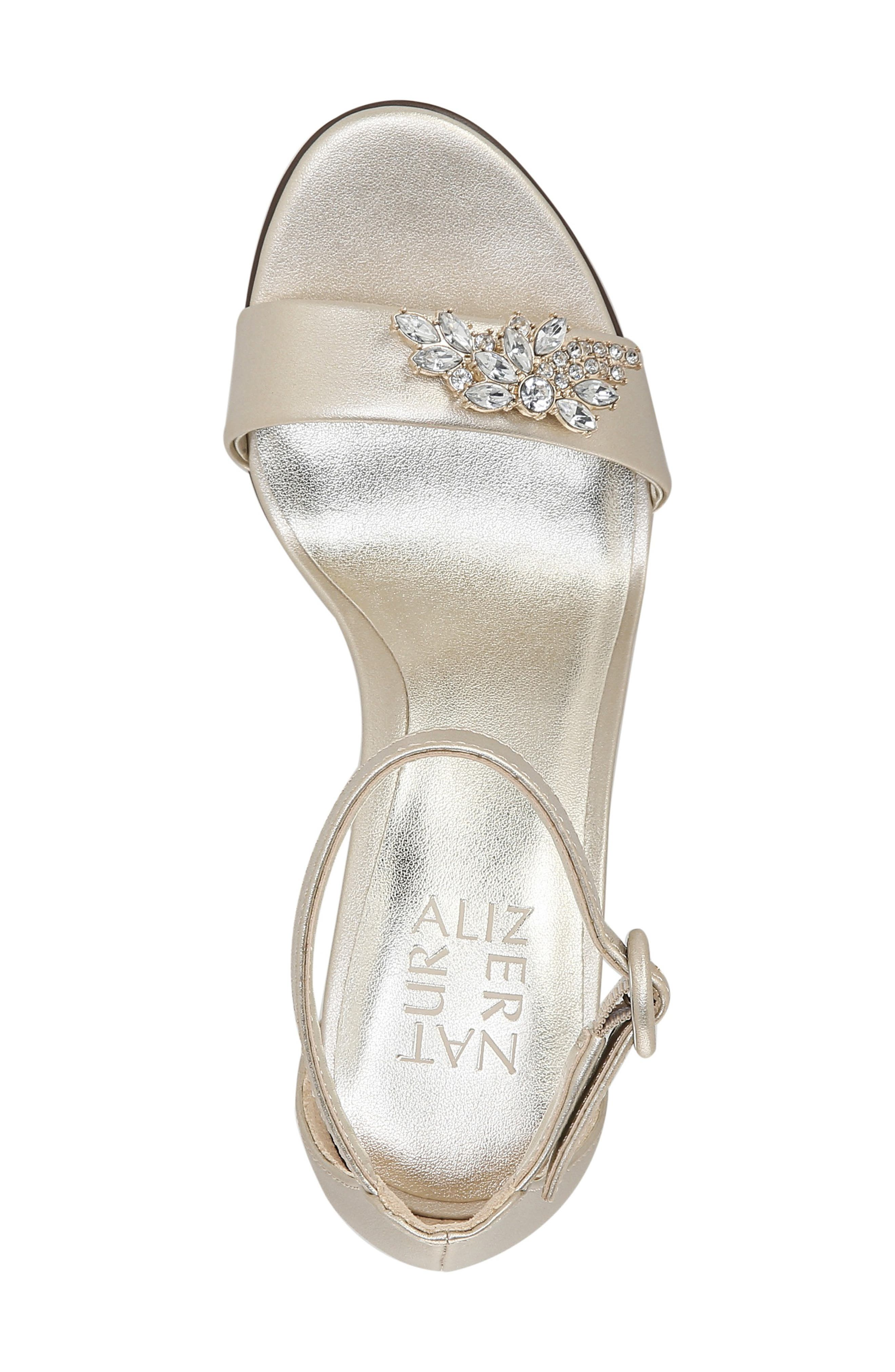 ,                             Kinsley Sandal,                             Alternate thumbnail 5, color,                             CHAMPAGNE FAUX LEATHER