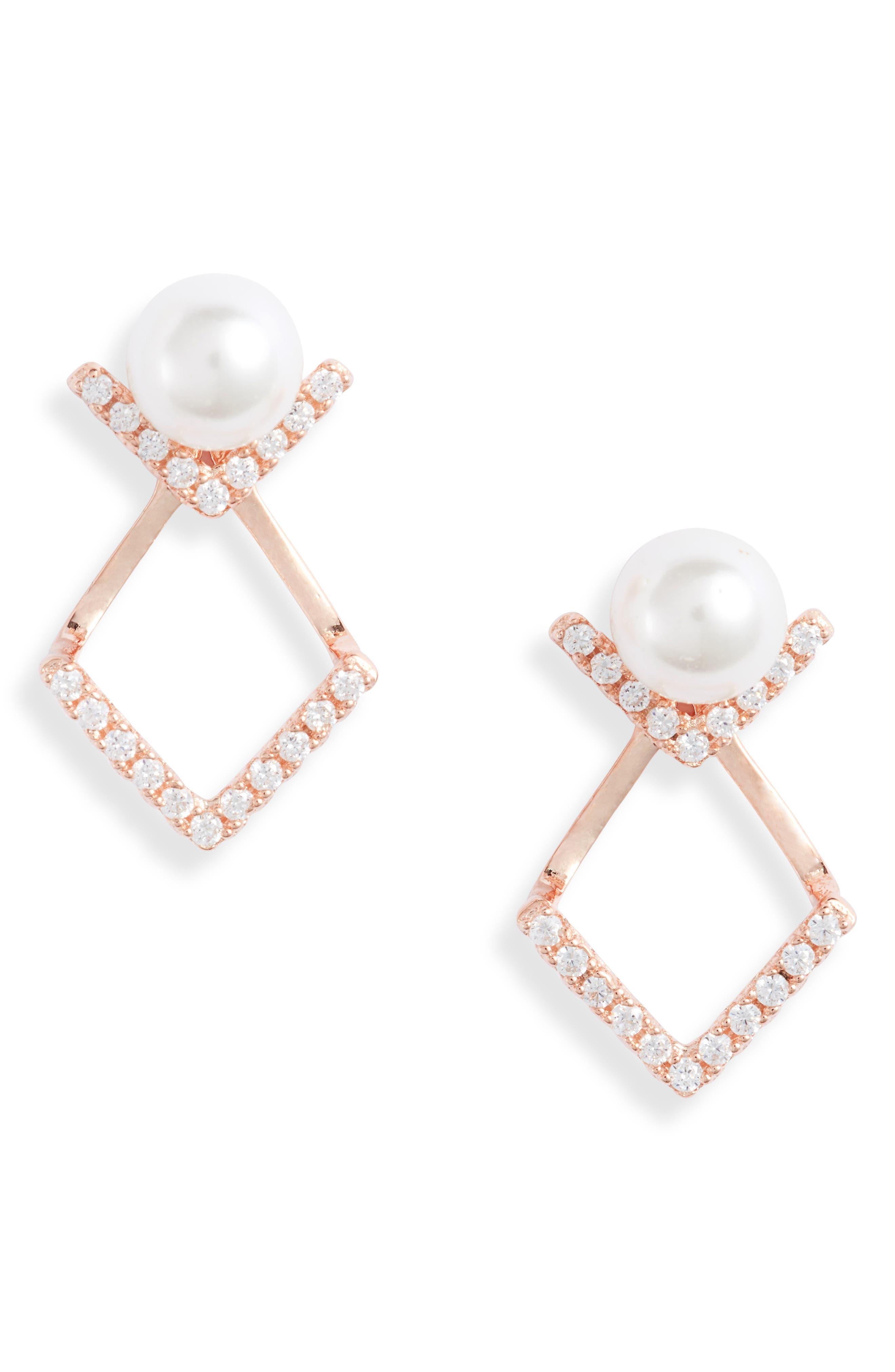 Stud Drop Earrings