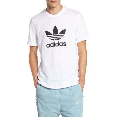 Adidas Originals Trefoil Graphic T-Shirt, White