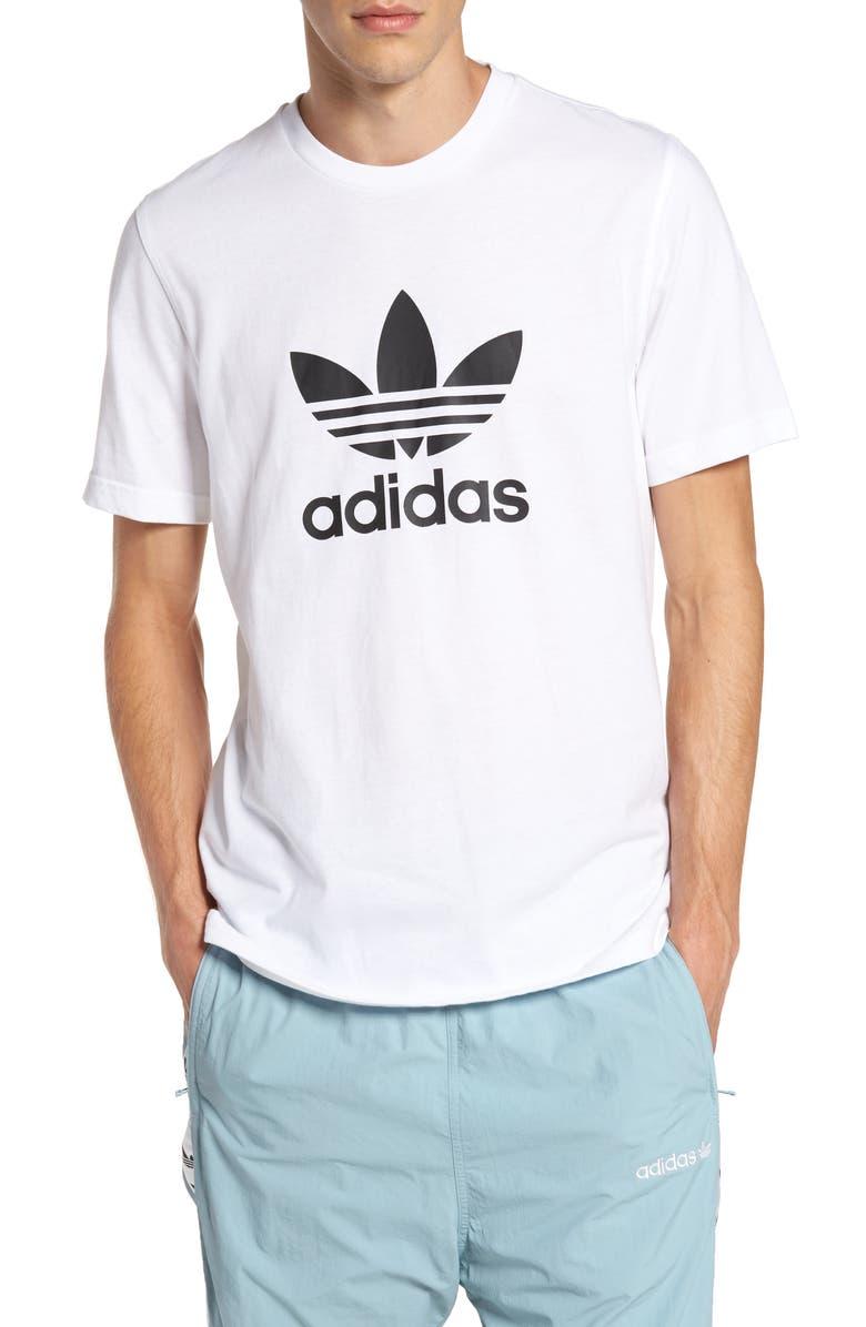ADIDAS ORIGINALS Trefoil Graphic T-Shirt, Main, color, WHITE