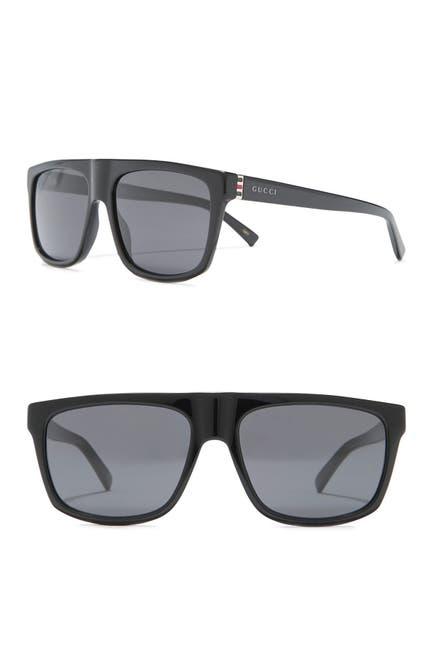 Image of GUCCI 57mm Modified Square Sunglasses