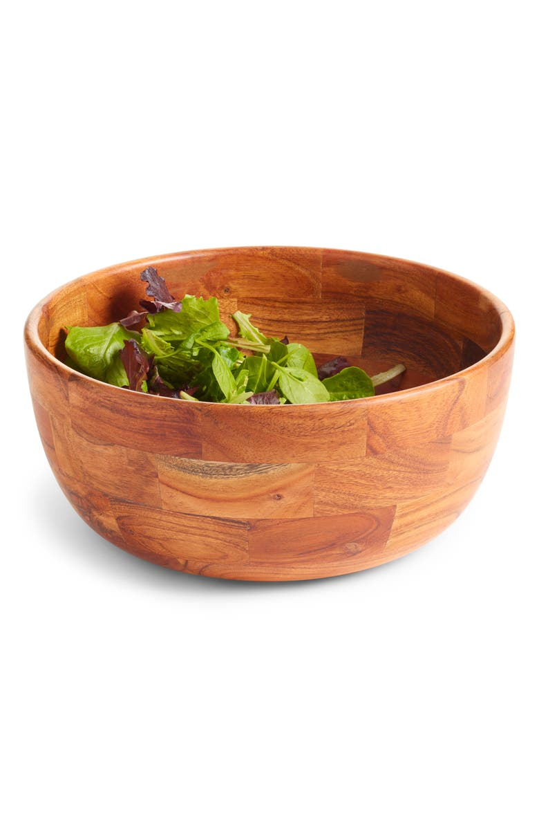 NORDSTROM AT HOME Large Wood Serving Bowl, Main, color, BROWN