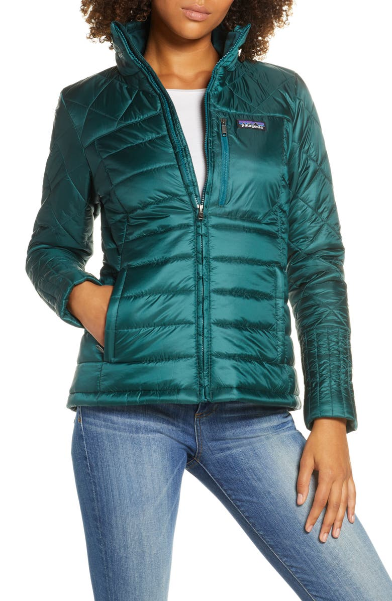 PATAGONIA Radalie Water Repellent Thermogreen-Insulated Jacket, Main, color, PIKI GREEN