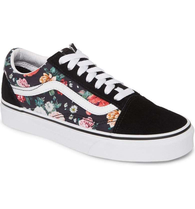 b8a3b08d61ccb UA Old Skool Lux Floral Sneaker, Main, color, BLACK/ WHITE