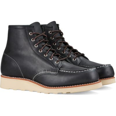 Red Wing 6-Inch Moc Boot, Black