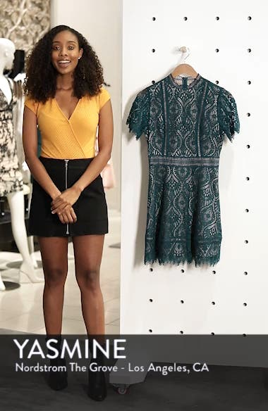 On List Short Sleeve Lace Fit & Flare Dress, sales video thumbnail