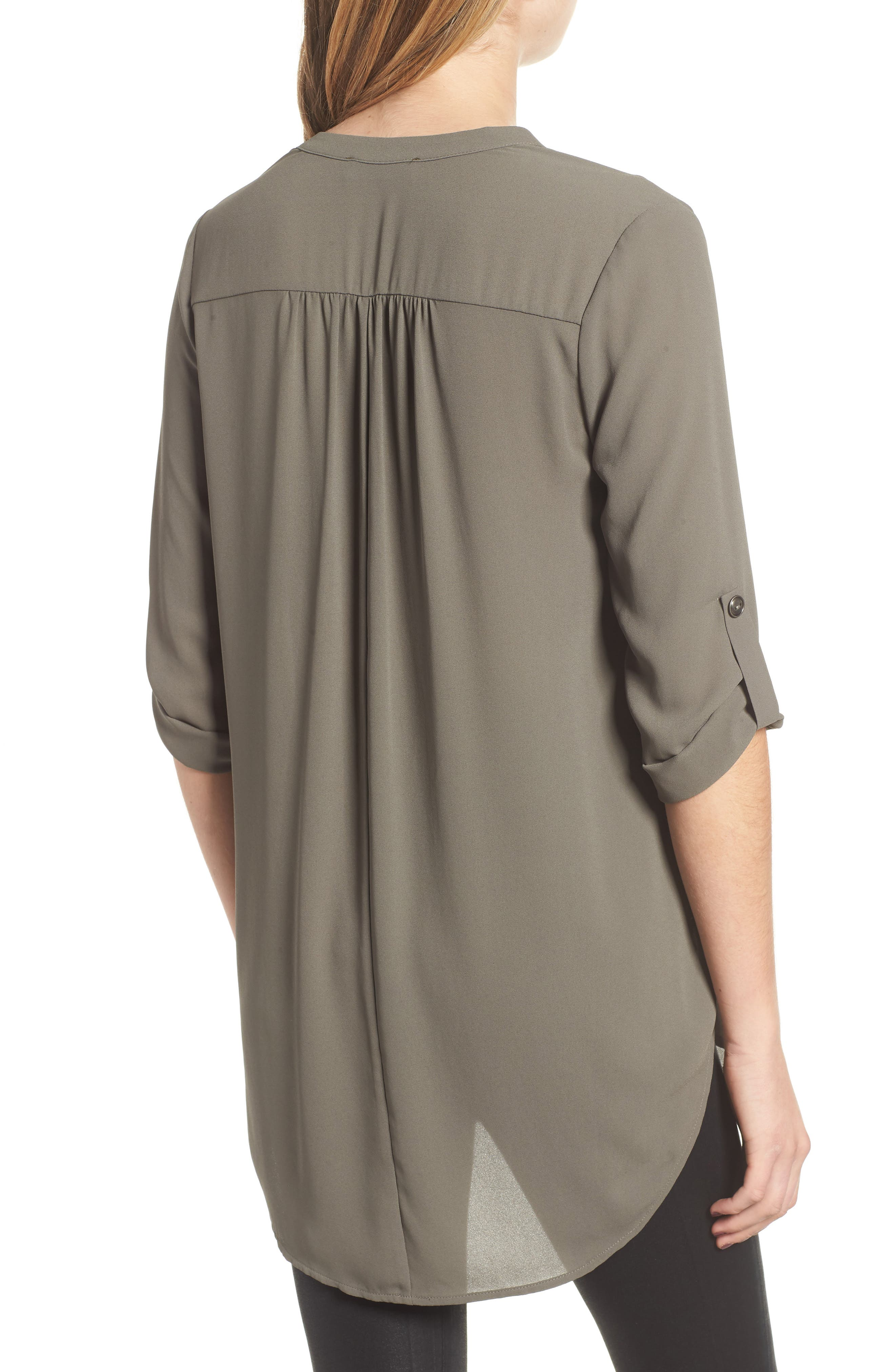 ,                             Perfect Roll Tab Sleeve Tunic,                             Alternate thumbnail 52, color,                             301