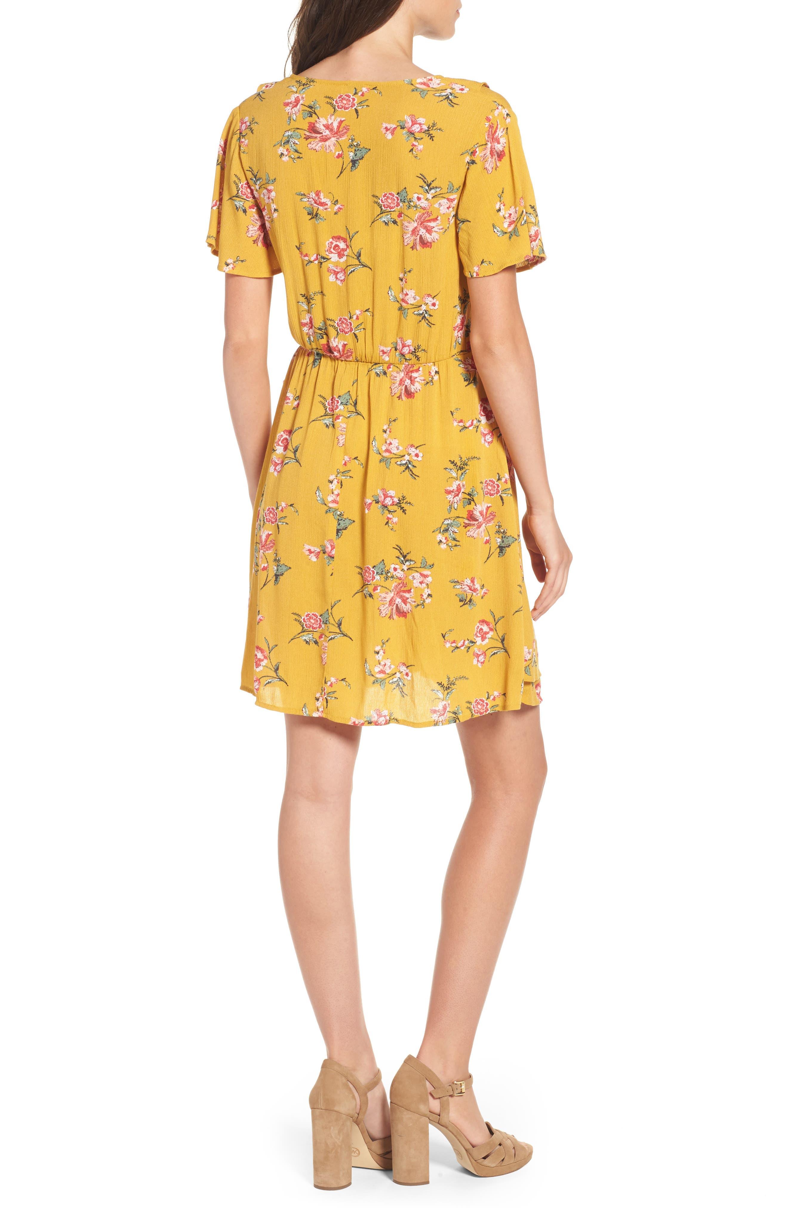 ,                             Floral Gauze Wrap Dress,                             Alternate thumbnail 8, color,                             752