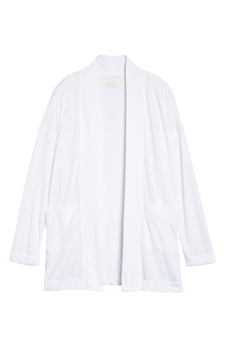 CASLON<SUP>®</SUP> Open Front Cardigan, Main, color, WHITE