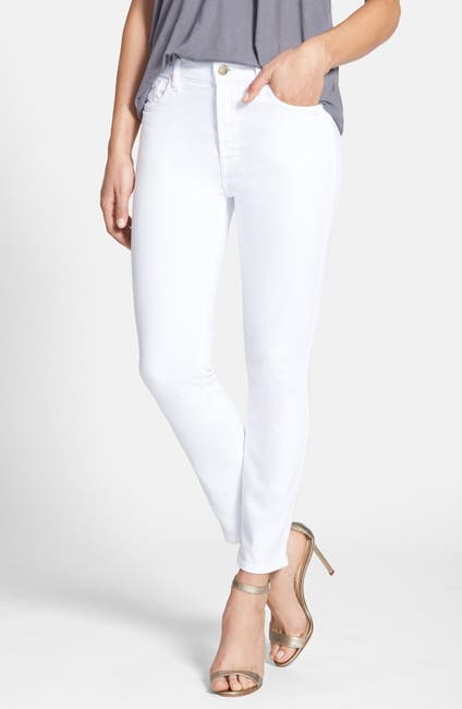 Image of Jen7 by 7 For All Mankind Cropped Skinny Jeans