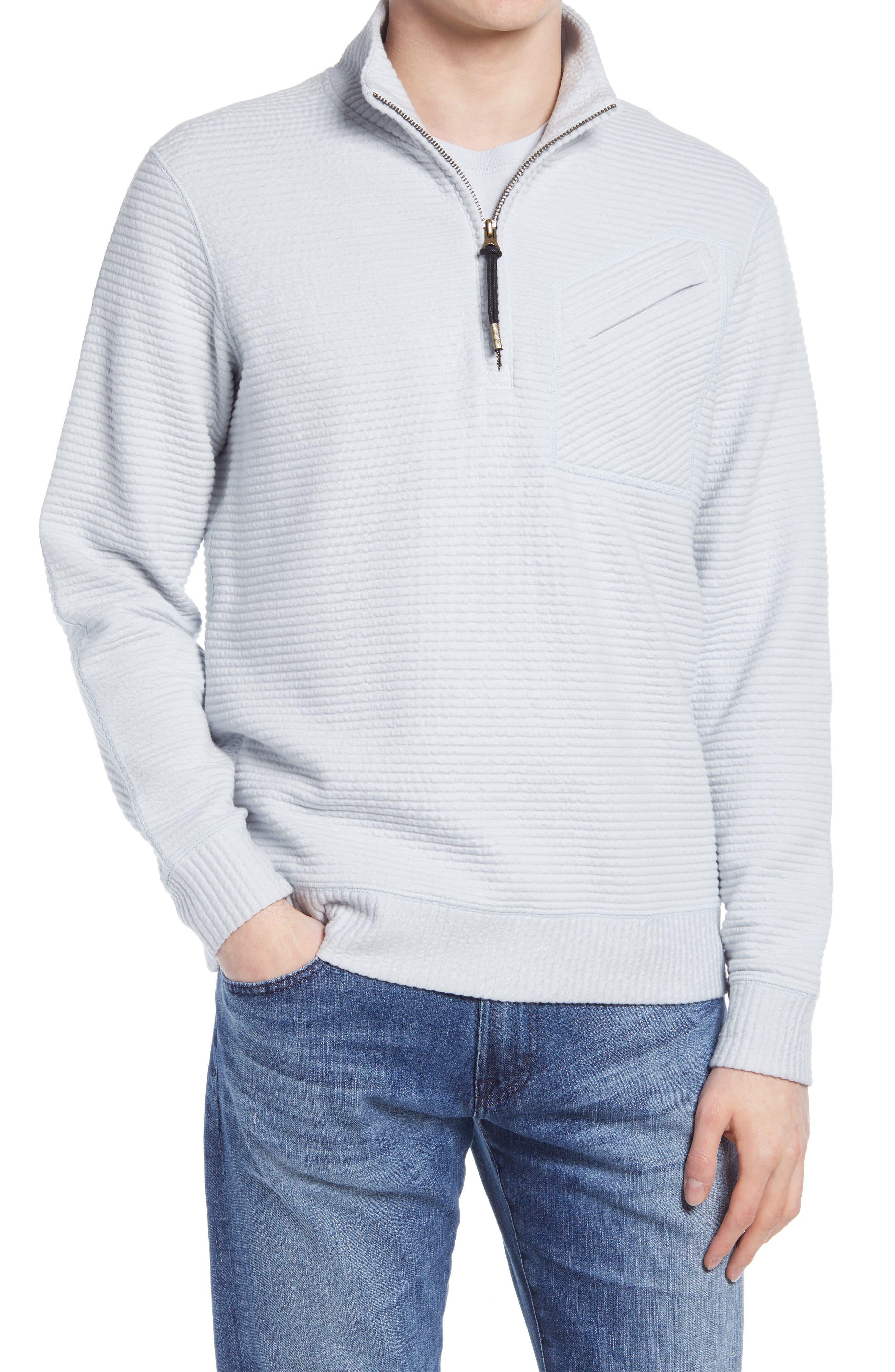Double Knit Half-Zip Pullover