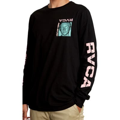 Rvca Matter Long Sleeve Graphic T-Shirt, Black