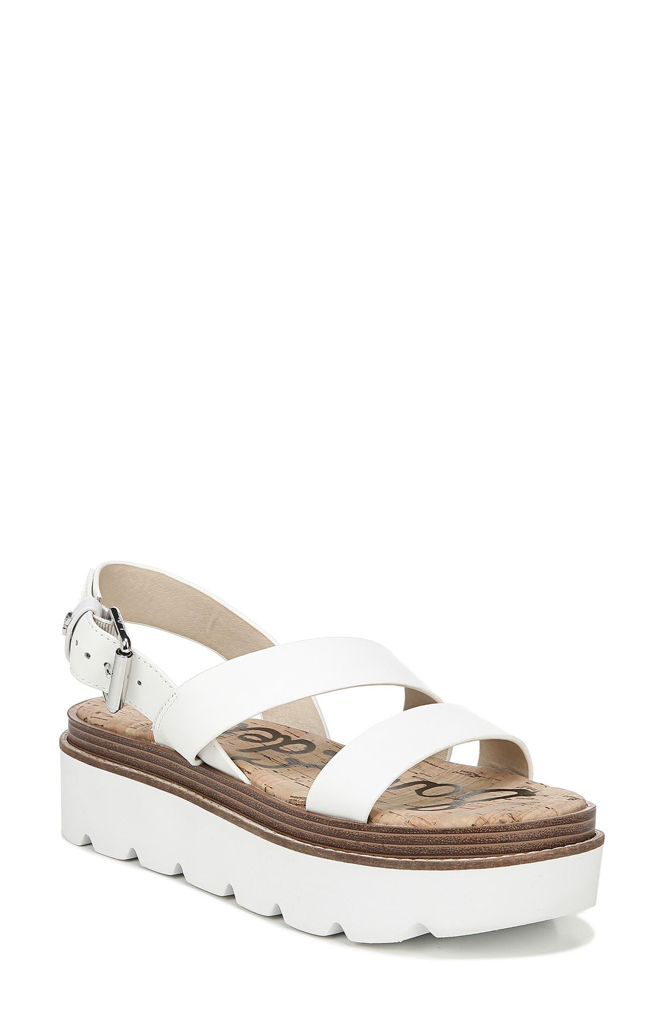Sam Edelman Rasheed Slingback Platform Sandal, White