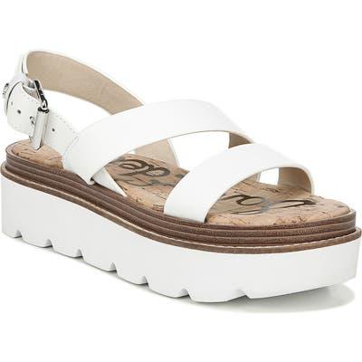 Sam Edelman Rasheed Slingback Platform Sandal- White