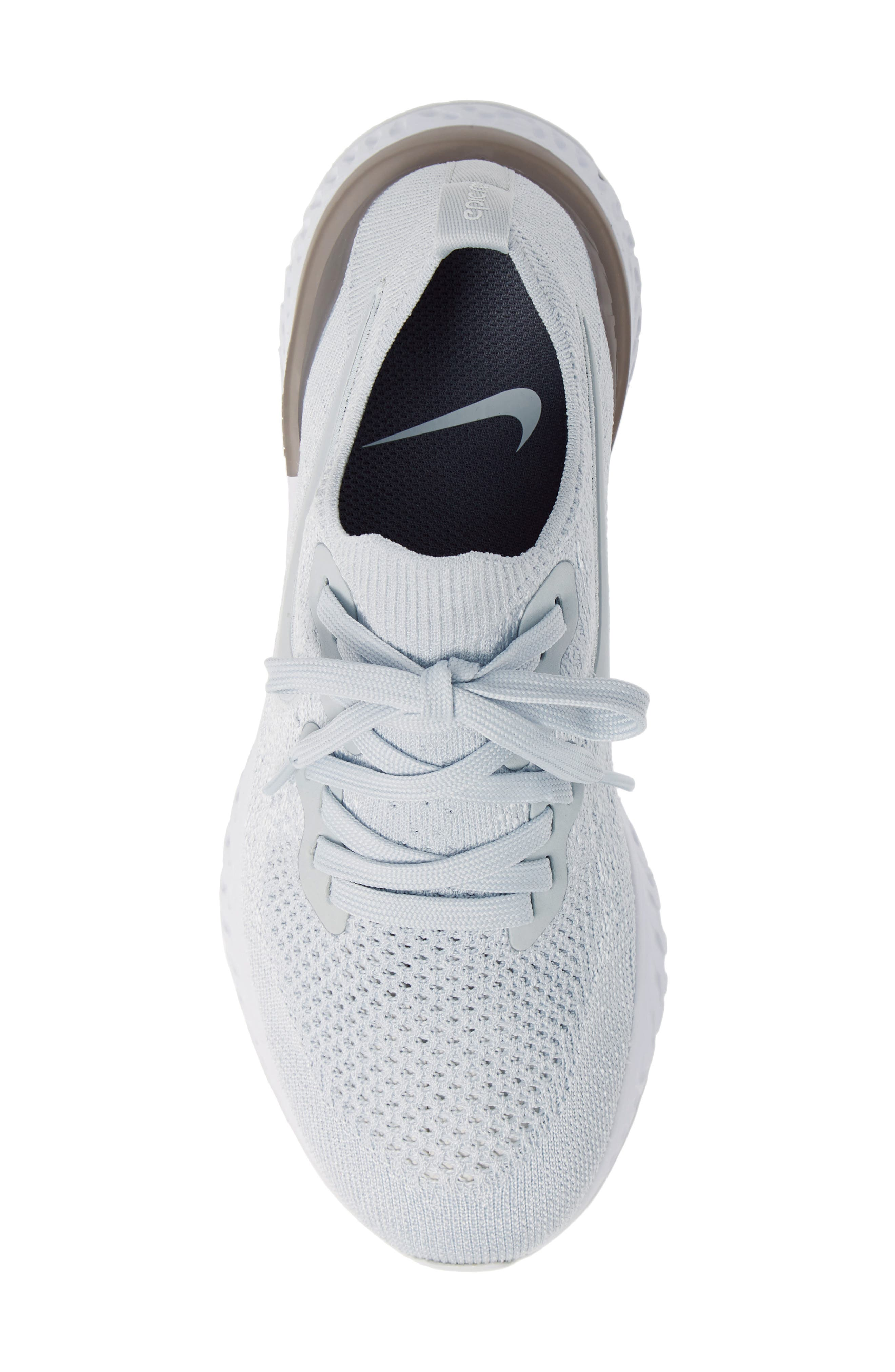 ,                             Epic React Flyknit 2 Running Shoe,                             Alternate thumbnail 6, color,                             PURE PLATINUM/ WOLF GREY
