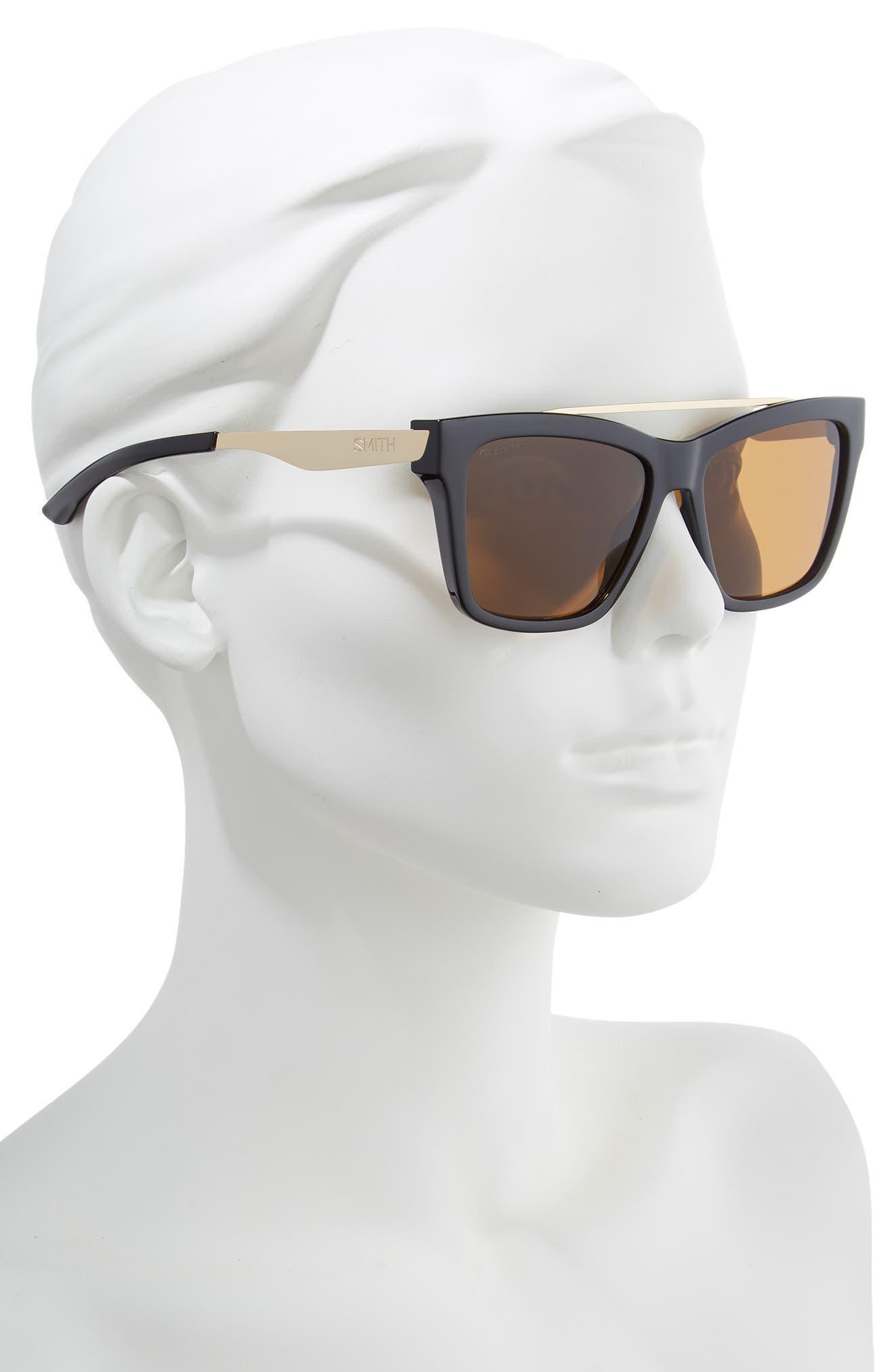 ,                             The Runaround 55mm ChromaPop<sup>™</sup> Polarized Sunglasses,                             Alternate thumbnail 2, color,                             BLACK