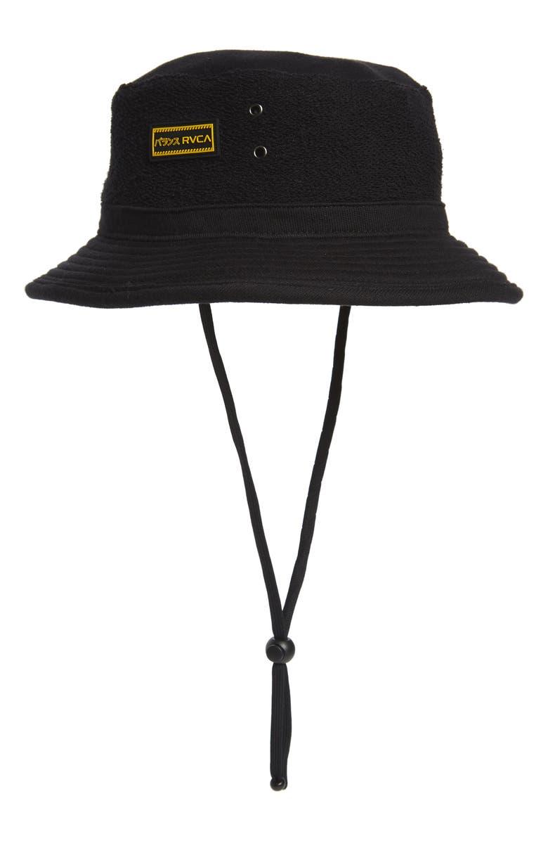 RVCA Deeps Bucket Hat, Main, color, BLACK