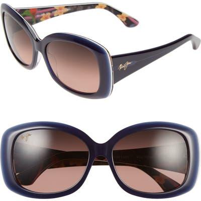 Maui Jim You Move Me 60mm Polarizedplus2 Sunglasses - Navy/ White/ Silk