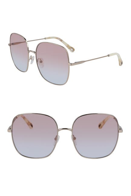 Image of Chloe 59mm Eliza Classic Square Sunglasses