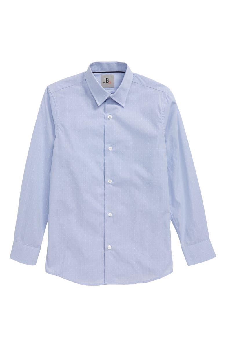 JB JR. Dot Dress Shirt, Main, color, BLUE