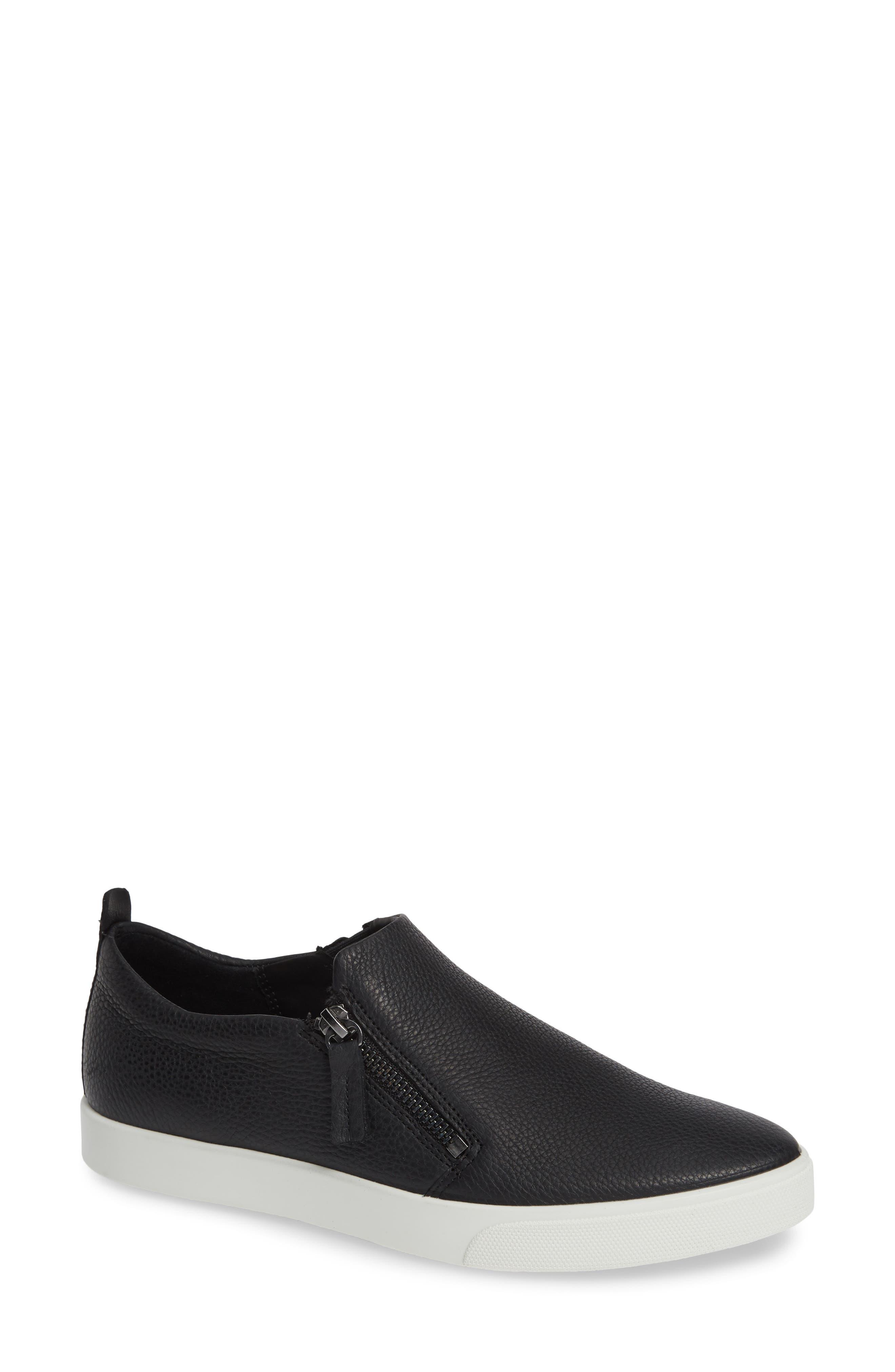 Ecco Gillian Side Zip Sneaker, Black