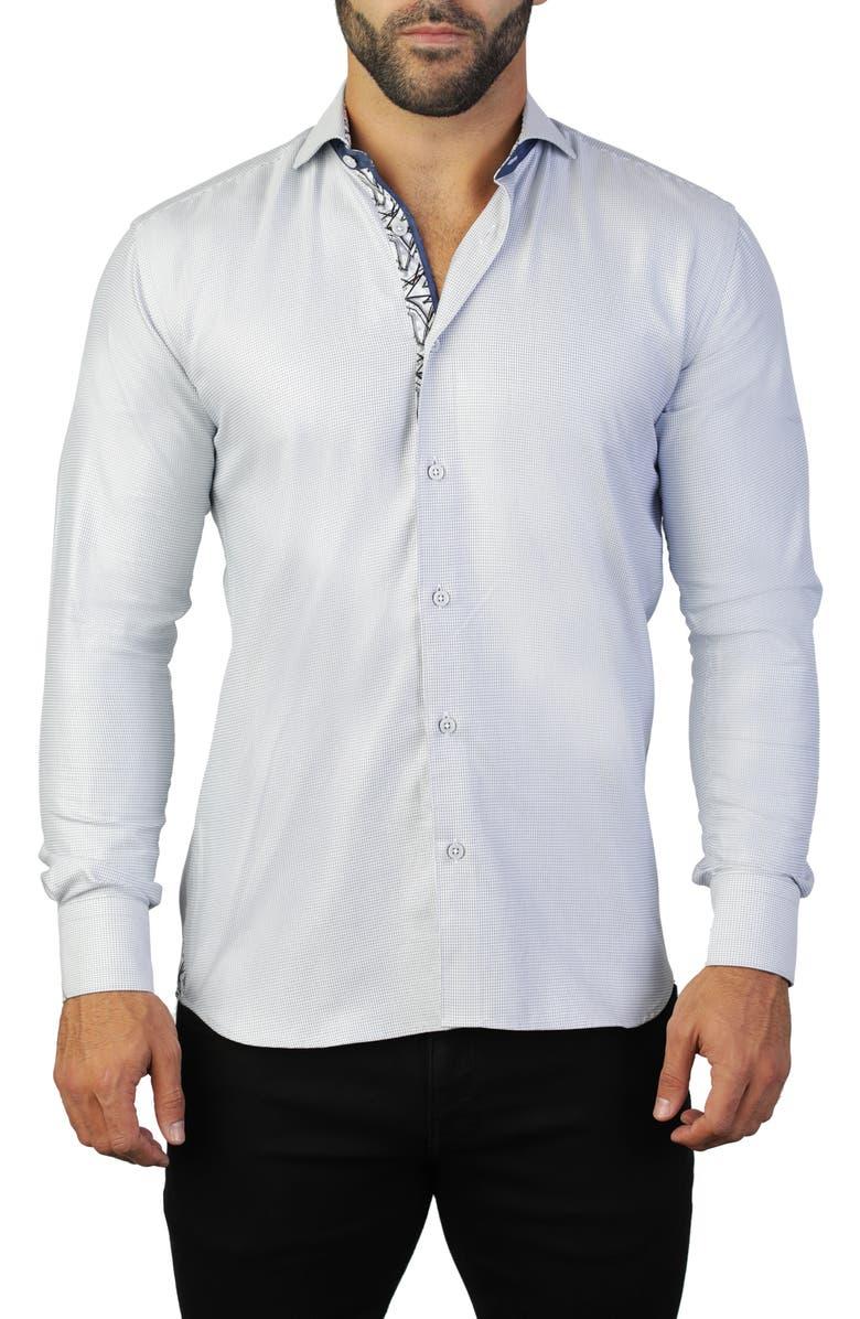 MACEOO Einstein Grey Regular Fit Shirt, Main, color, GREY