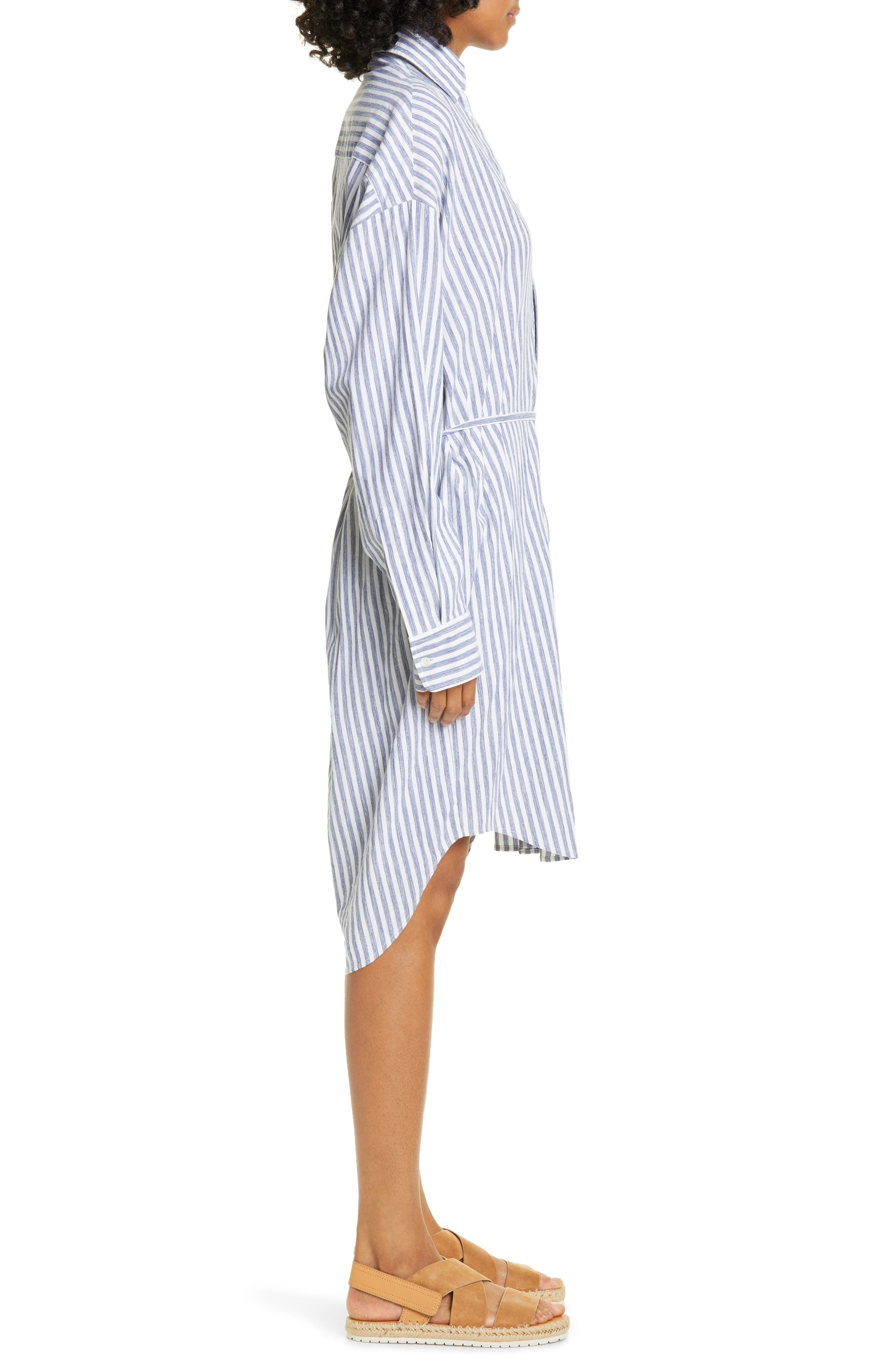 ,                             Oversize Stripe Shirt,                             Alternate thumbnail 3, color,                             INDIGO