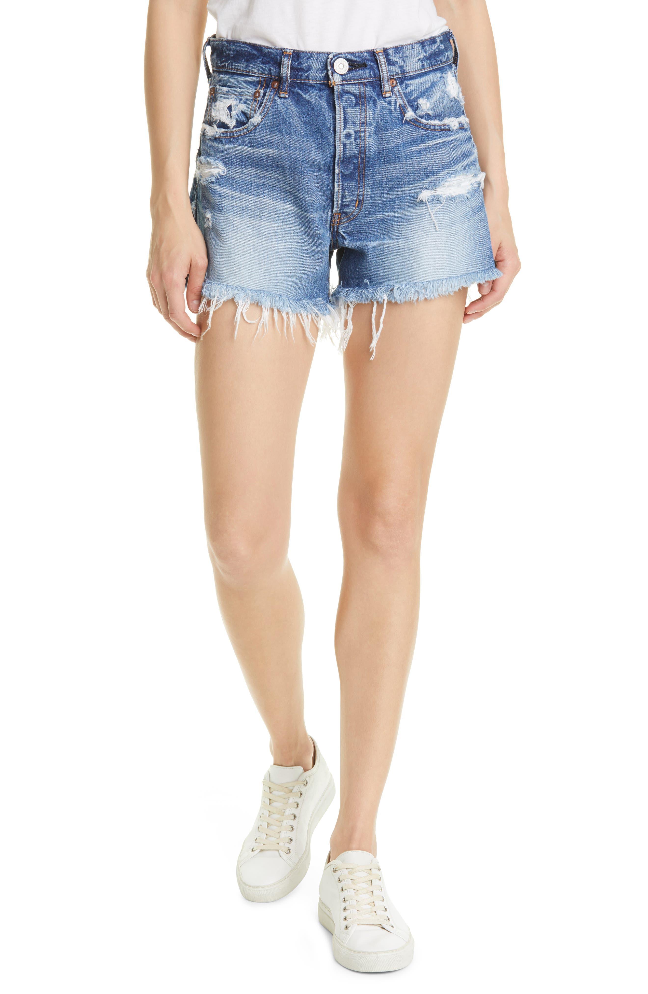 Sunnyvale Distressed Cutoff Denim Shorts