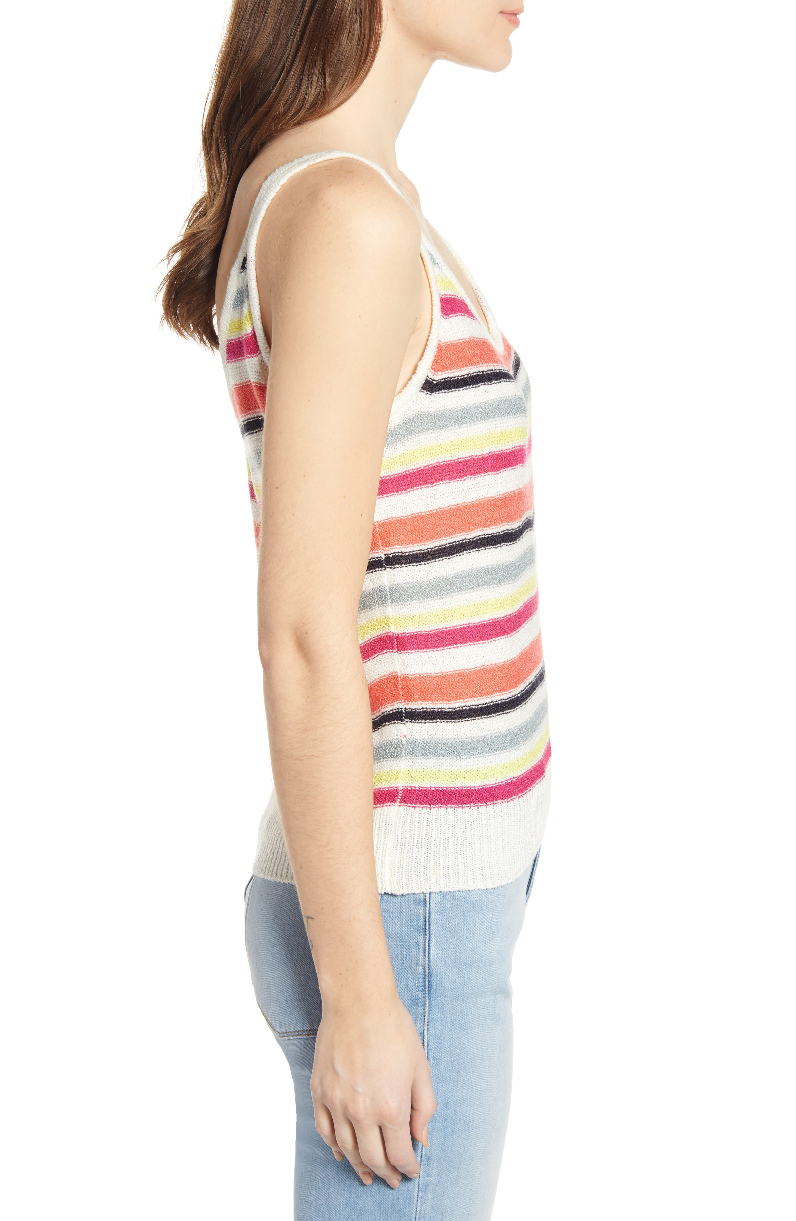 ,                             Aeon Stripe Sweater Tank,                             Alternate thumbnail 3, color,                             IVORY