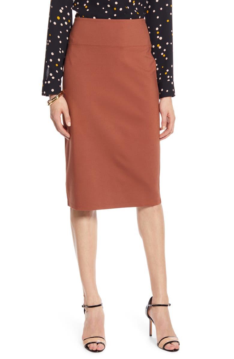 HALOGEN<SUP>®</SUP> Ponte Pencil Skirt, Main, color, 201