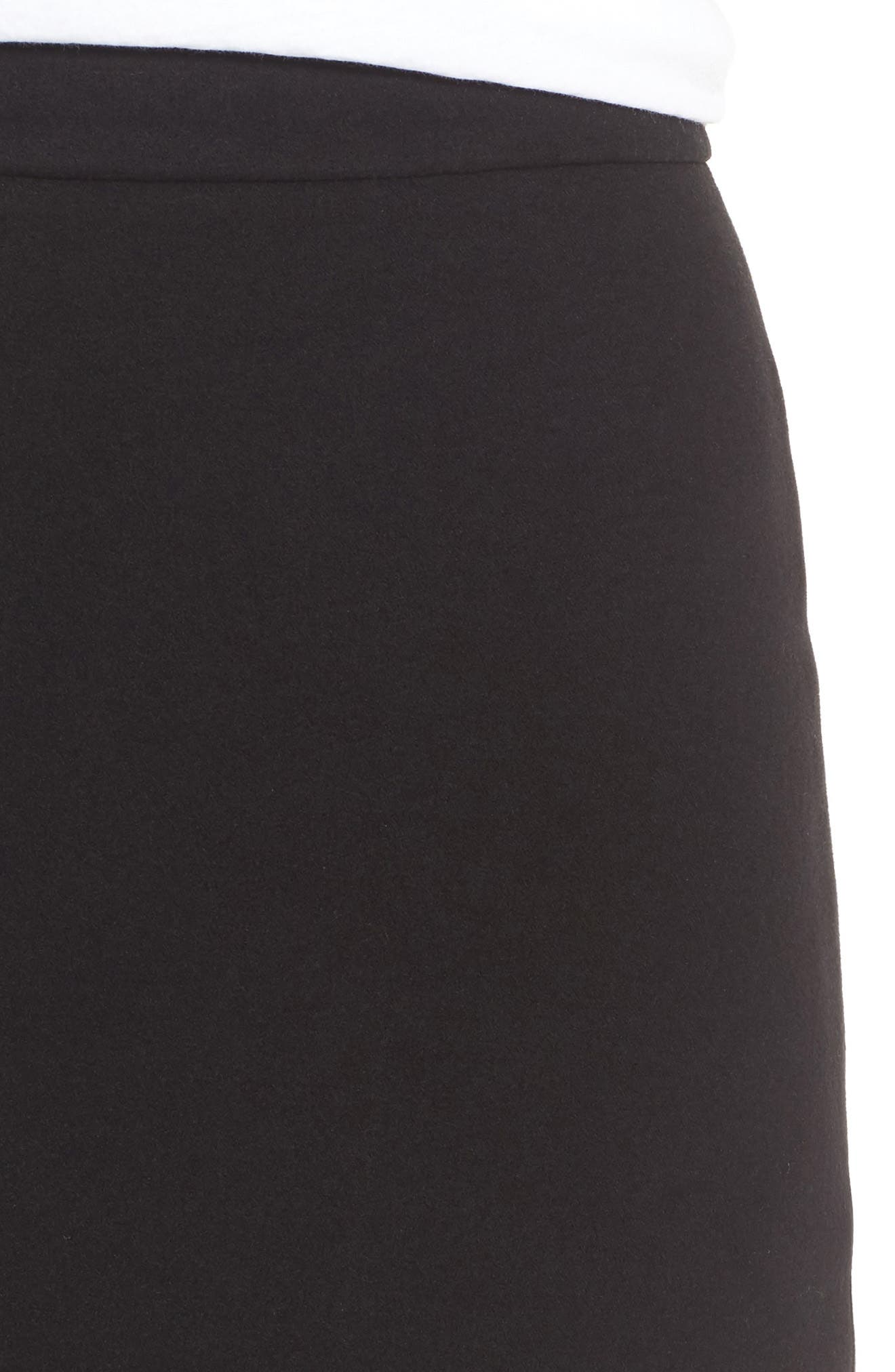 ,                             Moleskin Zip Back Skirt,                             Alternate thumbnail 4, color,                             001